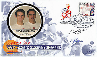 "1998 Commonwealth Games - Benham ""Special"" - Signed by CHALONER & JOHNSON"