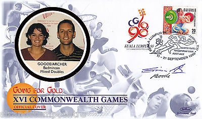 """1998 Commonwealth Games - Benham """"Special"""" - Signed by GOODE & ARCHER"""