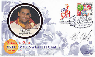 """1998 Commonwealth Games - Benham """"Special"""" - Signed by LEON GRIFFIN (Cover B)"""