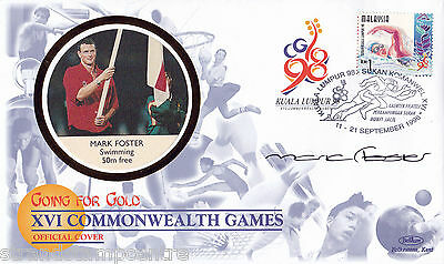 """1998 Commonwealth Games - Benham """"Special"""" - Signed by MARK FOSTER"""