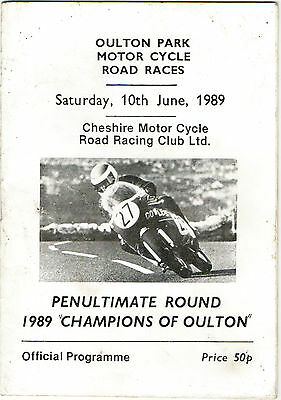 "Oulton Park M.Cycle Road Races-1989""Champions Of Oulton"" Programme(p/ult round)"