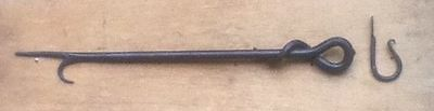 Fire Poker Hand Forged Blacksmith Made In Shropshire.