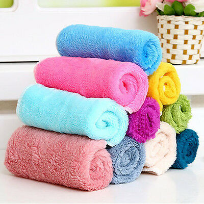 10Pcs/Set Bamboo Fiber Dish Wash Cloth Cleaning Towel for Kitchen Assted Colors