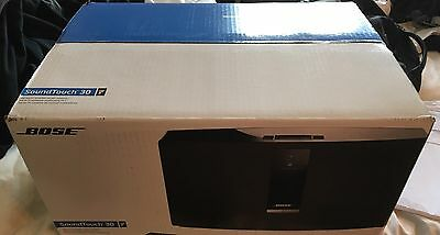 BNIB NEW BOXED BOSE Bose SOUNDTOUCH 30 Series III WIRELESS MUSIC SYSTEM BLACK EU