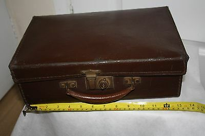 Vintage Retro Small Brown evcauee Suitcase 34 x 23 x 11cms