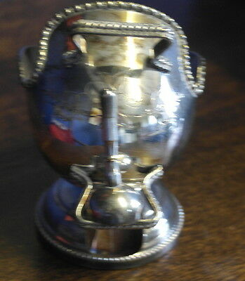 vintage  silver plate scuttle  shape SUGAR BOWL and scoop