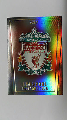 Topps Premier Club Card 2014/15- Liverpool Team Badge-Paralell Insert
