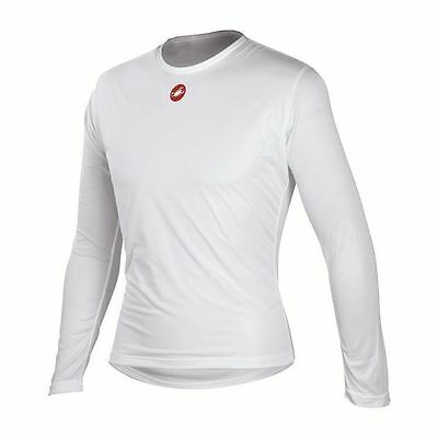Castelli Winter Wind Men's Cycling Long Sleeve Base Layer White Size XXL