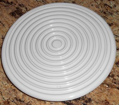 "Chantal Made in Italy Stoneware Trivet Hot Plate White  7 3/4"" Round"