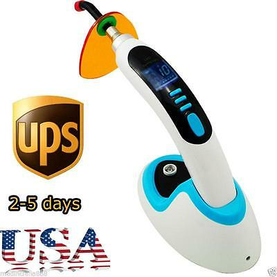 USA Wireless LED Dental Curing Light Lamp 2000MW 10W w/ Teeth Whitening