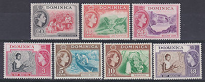 Dominica  1954 part set of 7  mint hinged