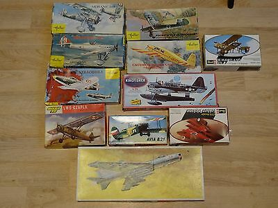 Lot 11 Anciennes Maquettes Aviation Heller Revell Lindberg Mikcro 72.....