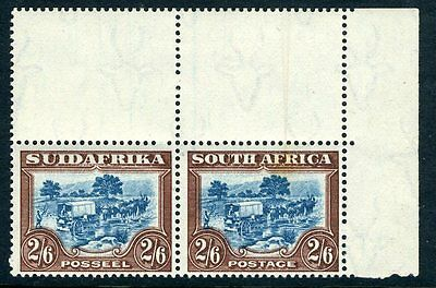 SOUTH AFRICA-1944 2/6 Blue & Brown Sg 49b UNMOUNTED MINT V13224