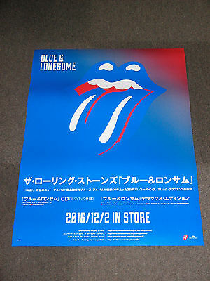 FREE SHIP ROLLING STONES BLUE & LONESOME  JAPAN Reversible PROMO POSTER