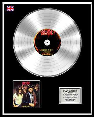 AC/DC Ltd Edition CD Platinum Disc Record HIGHWAY TO HELL