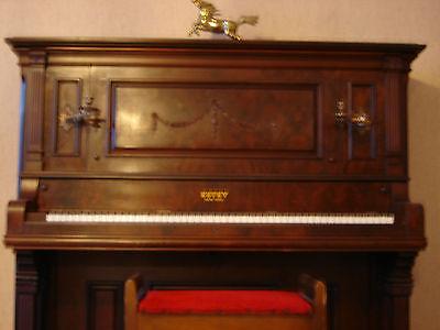 New York Solid Wood Estey NY Grand Cabinet Upright Piano