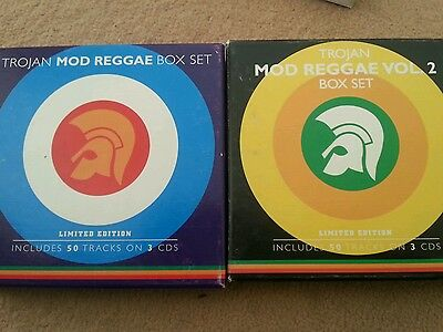 Trojan Mod Reggae Boxset Vol One And Two Rare Mod Skinhead Ska