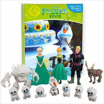 NEW Disney Frozen Fever My Busy Book by Phidal Publishing Inc.12 Figurines