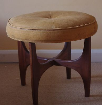 G-Plan mid century solid teak dressing table stool