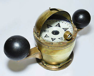 Brass mounted Sestrel ship's binnacle compass by Henry Browne of London