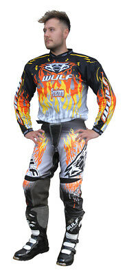 Wulf Attack Adult Orange Motocross Kit Off Road Shirt Pants Wulfsport Enduro