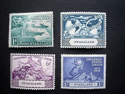 Nyasaland; 1949 UPU set; MM