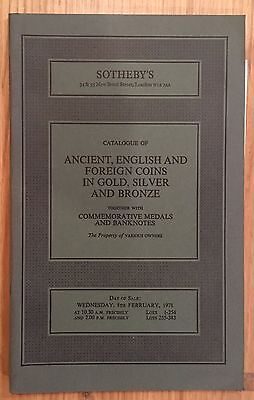 LAC SOTHEBY'S catalogue of ANCIENT, ENGLISH AND FOREIGN COINS February 1978