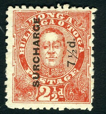 TONGA-1895 7½d on 2½d Vermilion Sg 31 MOUNTED MINT V13152