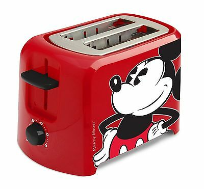 Disney DCM-21 Mickey Mouse 2 Slice Toaster Red/Black One Size {Hinged Crumb} DNY