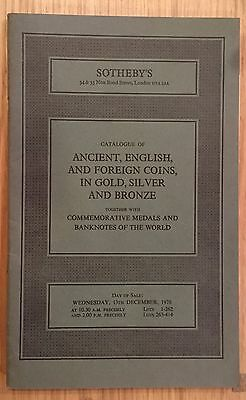 LAC SOTHEBY'S catalogue of ANCIENT,ENGLISH AND  FOREIGN COINS December 1978