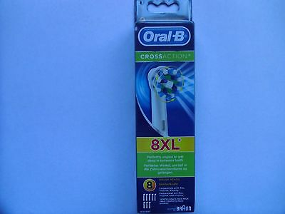 Braun Oral-B Cross Action Electric Toothbrush Replacement 8 Heads (New)