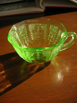 """Green Princess Depression Glass - 4"""" Cup - by Anchor Hocking Glass Company"""