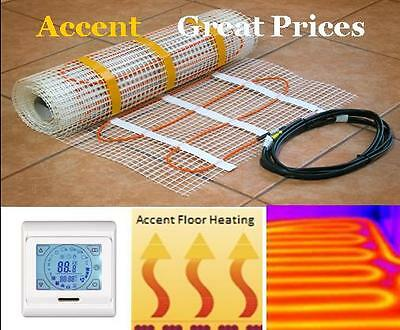 Floor heating mat kit 3 SqM  under tile underfloor undertile bathroom