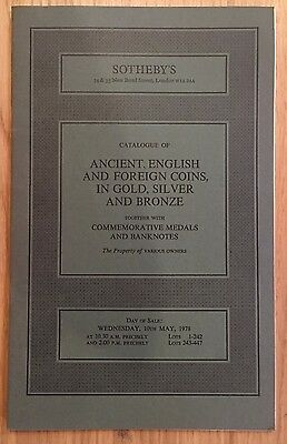 LAC SOTHEBY'S catalogue of ANCIENT ENGLISH AND FOREIGN COINS May 1978
