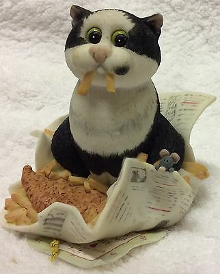 Fish & Chips (chipper) Comic & Curious Cats Figurine
