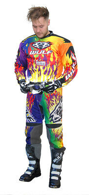 Wulf Attack Adult Multi Motocross Kit Off Road Shirt Pants Wulfsport Enduro