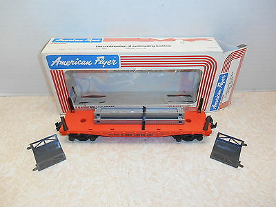 American Flyer #48505 Illinois Central Flat Car with Bulkheads