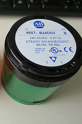 Allen Bradley 855T-B24DN3 24VAC/DC Green Tower Lamp