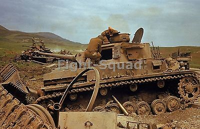 WW2 Picture Photo GERMAN TANK AFTER THE BATTLE OF EL GUETTAR TUNISIA  1510