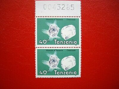 Tanzania; 1968 Minerals Issue?; top value pair; MNH