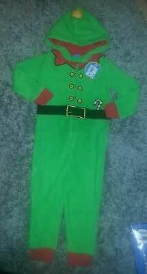 FATHER CHRISTMAS SANTA CLAUS ELF FLEECE ONESIE. Age 3-4.  RRP £26.99. BNWT.