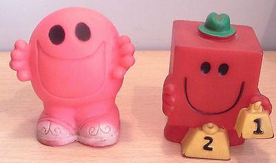Vintage MR. MEN Squeaky Toys x2 OLD inc. Tommee Tippee
