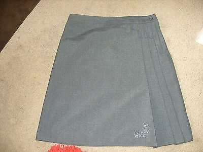 Girls New Grey School Skirt Age 10/11 years