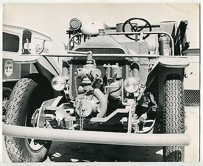 """Large Photo: """"White Motor Company"""" Fire Truck"""