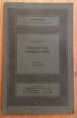 LAC SOTHEBY'S catalogue of ENGLISH AND FOREIGN COINS JUNE 1980