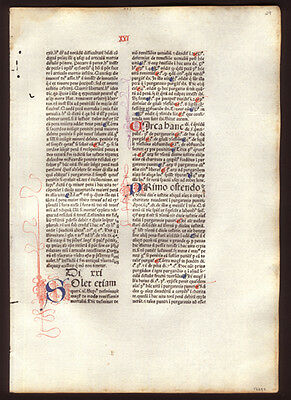 539 Yr Old  Commentary on Sentences of Peter Lombard Bishop of Paris Incunable