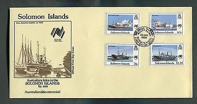 Solomon Islands 1988 Sydpex '88 set and m/sheet fdcs ( 2 Covers )