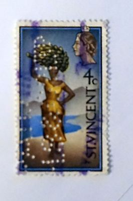 ST. VINCENT unusual stamp PERFORATED (see pic) 4-cent