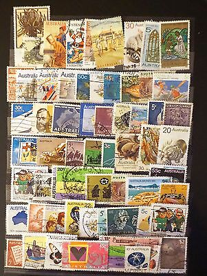 Australia lot of used (mostly) commemoratives 59 stamps  Lot #8