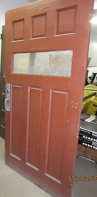 "wood door (#8) - 41 3/8 x 80 - 1 7/8"" thick - solid wood w/panic hardware"